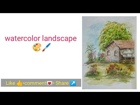 watercolor landscape painting | watercolour painting for beginners