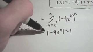 Power Series Representation of Functions