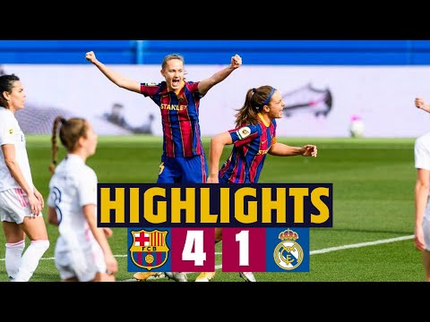 HIGHLIGHTS   Barça Women 4-1 Real Madrid   Victory in the Clásico!