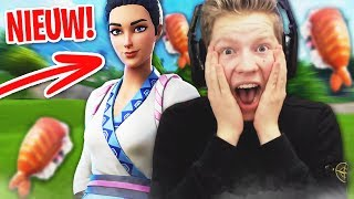 GET A LOT OF WINS WITH THE NEW SUSHI SKIN IN FORTNITE!!