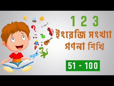 খুব সহজেই ইংরেজী 123 গণনা শিখি/ English ১২৩ Numbering part 02