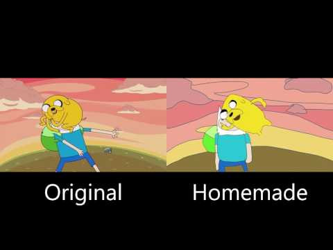Adventure Time Theme Song (Original And Homemade) Side-by-Side Comparison