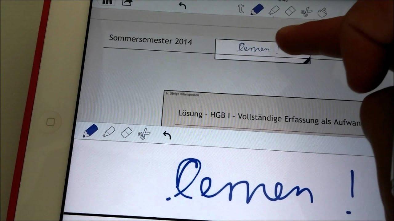 Notizen ins Skript schreiben mit Notability - YouTube