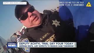 Defense rests case in trial of Erie County deputy Achtyl