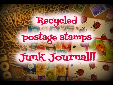 Recycled Postage Stamps Junk Journal!!