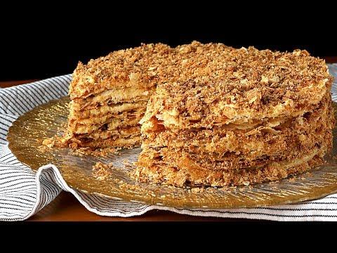 NAPOLEÓN - Tarta milhojas rusa. Receta de una cafetería 👌