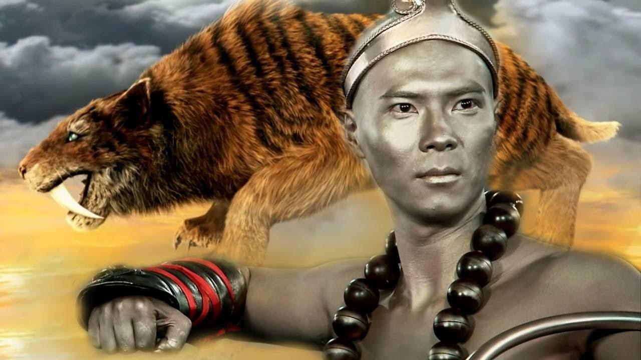Phục Hổ La Hán hiện nguyên hình là con Hổ Răng Kiếm trừng trị yêu quái (phim TÂN TẾ CÔNG)