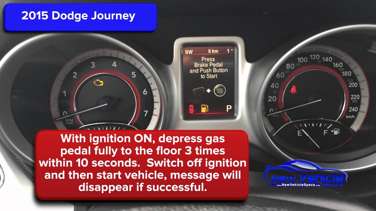 2015 Dodge Journey Oil Light Reset / Service Light Reset - YouTube