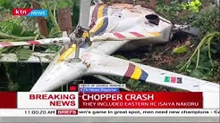Breaking News: Police chopper crash lands in Meru, various Government officials onboard survive