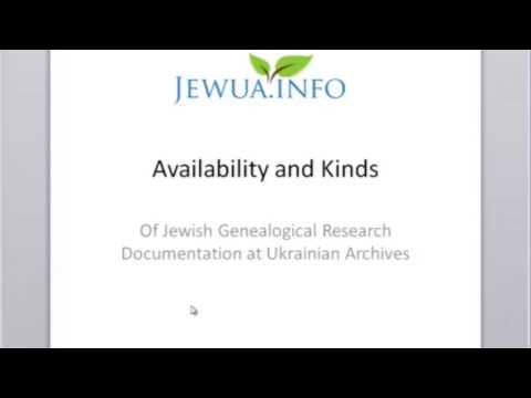 What can you find for Jewish Genealogy at Ukrainian archives - Nadia Lipes