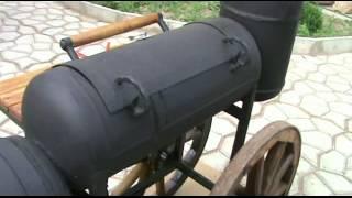 видео Мангал из газового баллона: как сделать своими руками простой смокер и коптильню