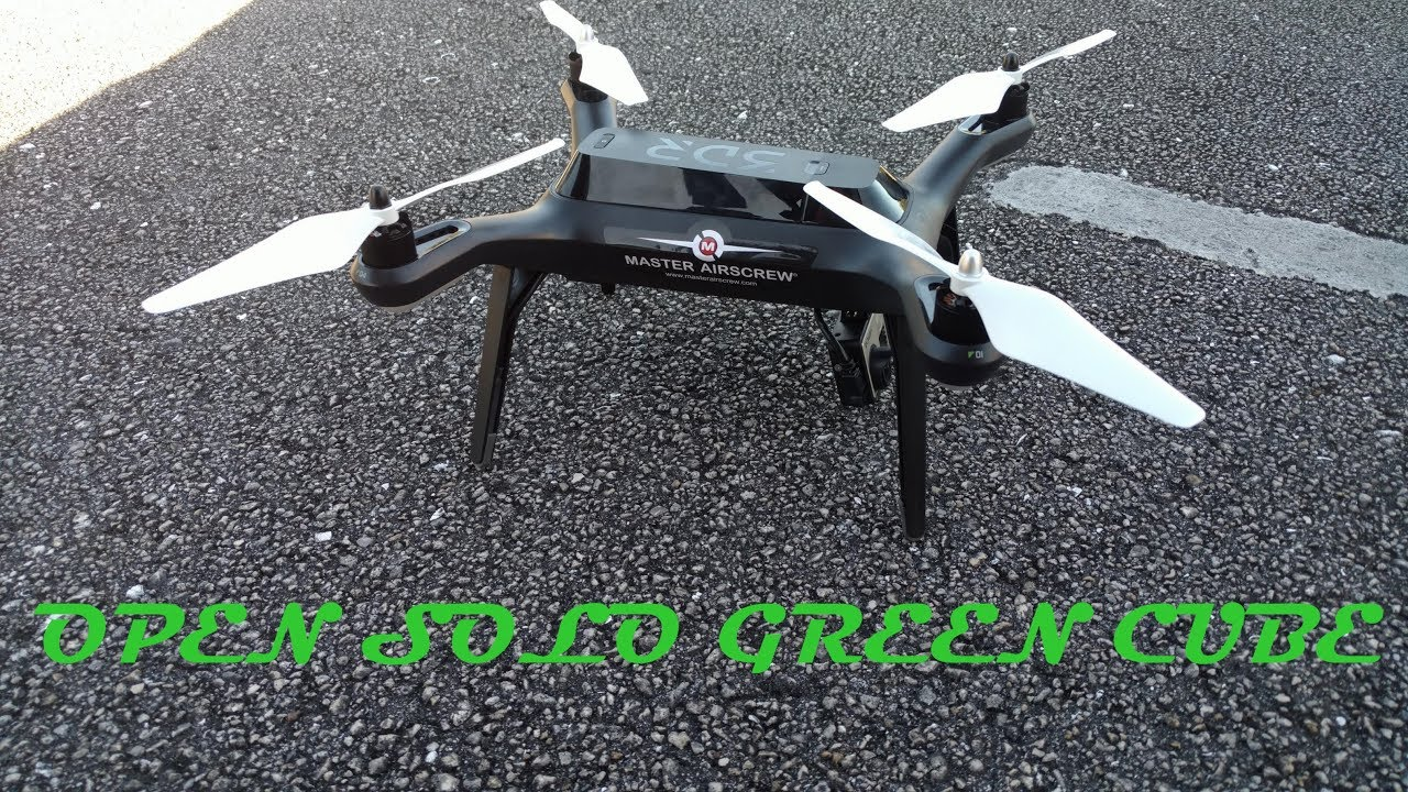 Open Solo Green Cube (3DR Solo) - Manual Flying with Wind Assist, Fixed  Mount