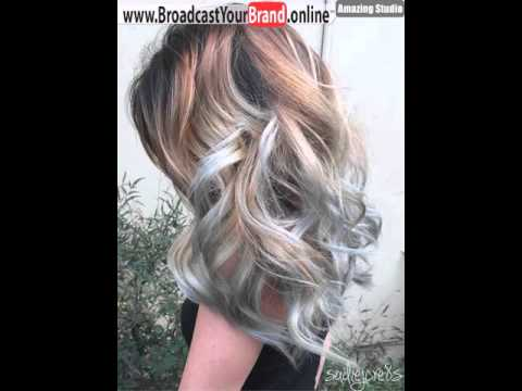 Brown Blonde Hairstyle With Light Blue Highlights Youtube