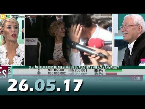 Hoy Es Noticia 13tv 26.05.17 Sánchez y la PluriNacionalidad, Carmena y Bollywood,Día Fuerzas Armadas