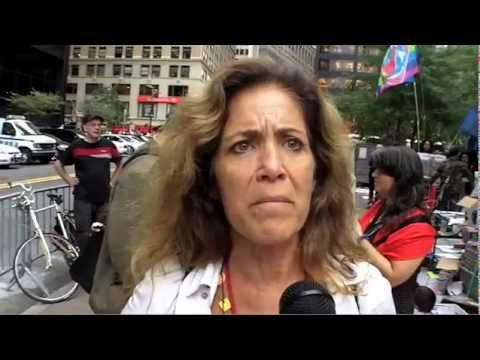 #OCCUPYWALLSTREET woman talking about love Oct 12
