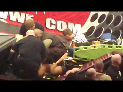 FanView Of Wade Barrett Injured On Raw  Medics Refs Tend To Wade