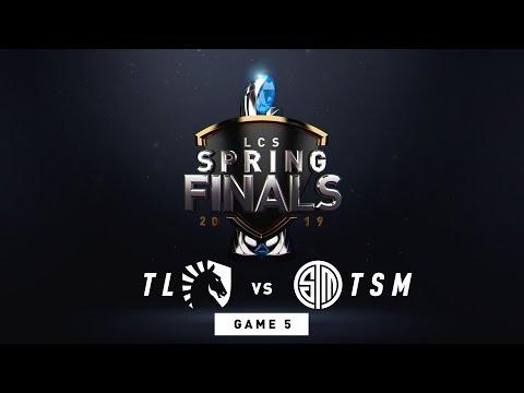 TL vs TSM  Finals Game 5  LCS Spring Split  Team Liquid vs TSM 2019
