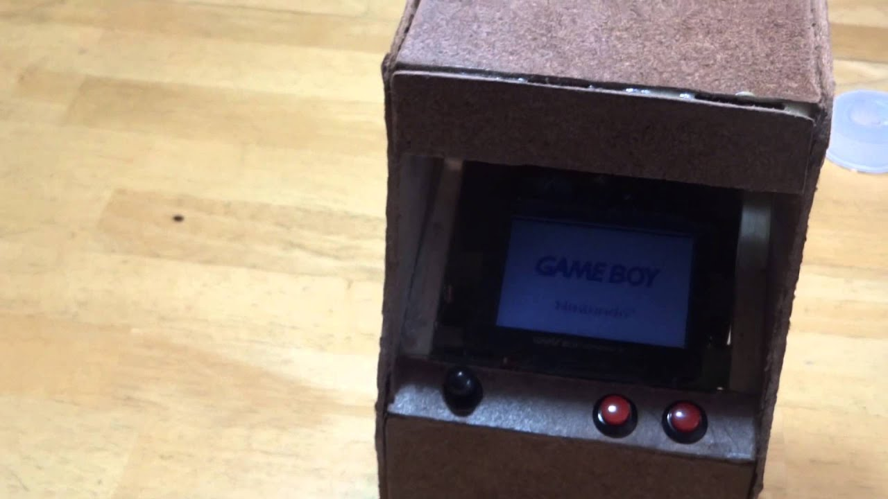 small arcade cabinet game boy advance - YouTube