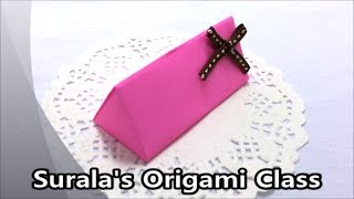 Origami - Triangle (prism) Box / 종이접기 - 삼각형 상자