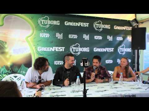 Пресс-конференция Papa Roach на GreenFest в Минске