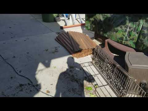 C. L. Rusty corrugated fence 1