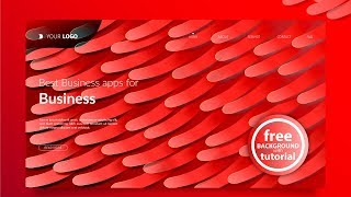 Landing Page - Abstract Background #9 - Blend Tool  - Adobe Illustrator Tutorial