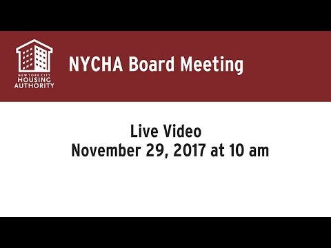 NYCHA 11/29/17 Board Meeting