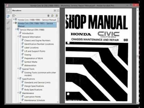 honda civic crx 1988 1991 workshop service repair manual rh youtube com 1991 honda civic service manual pdf 1992 Honda Civic