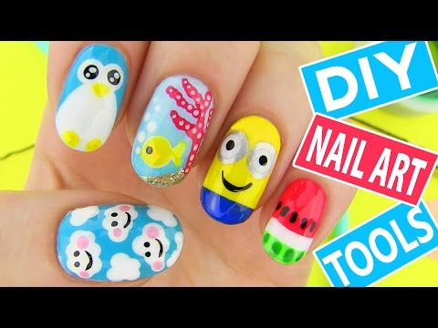 Thumbnail: DIY Nail Art Tools with 5 Easy Nail Art Designs! How to Paint your Nails at Home!