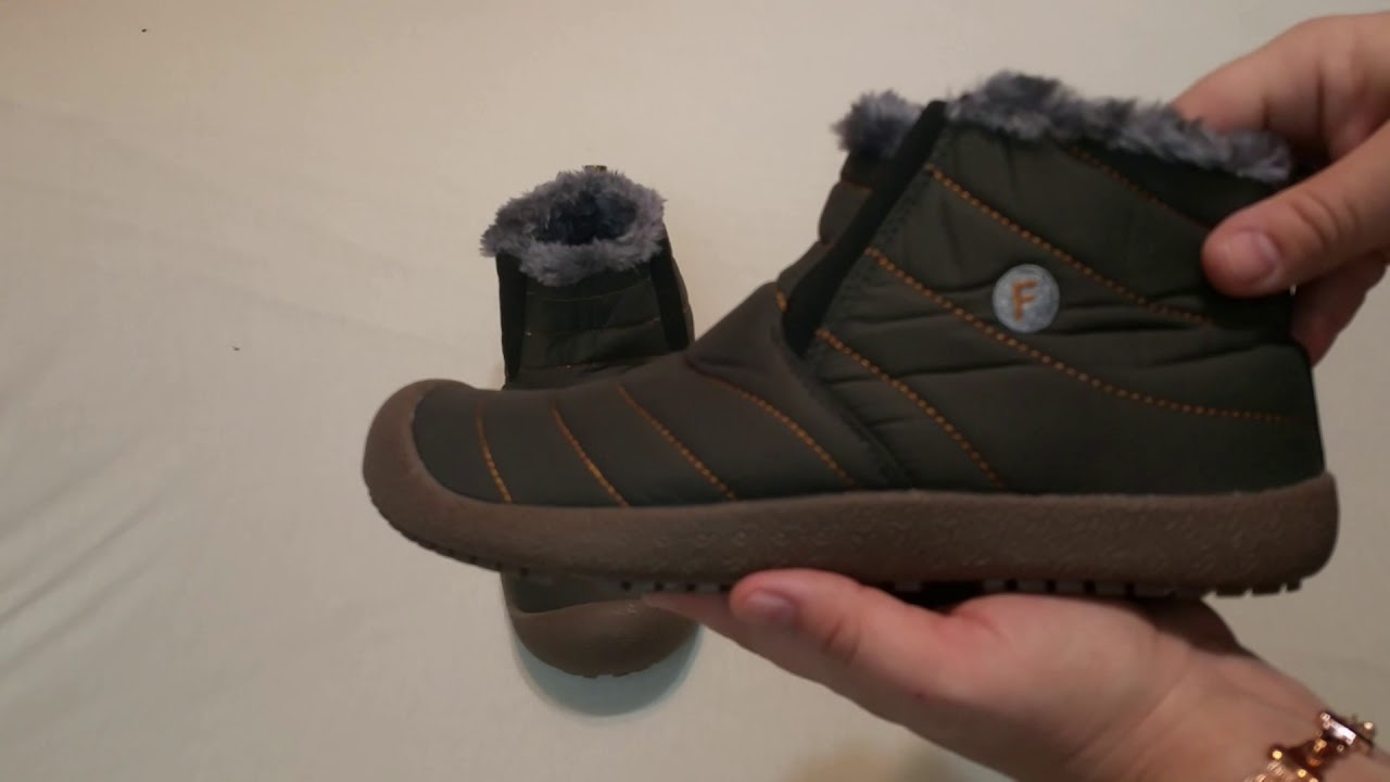e04030501 CIOR Men and women fur lined slip on snow boots