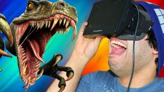 Dinosaur Town In VIRTUAL REALITY! | Dino Town VR (Oculus Rift)