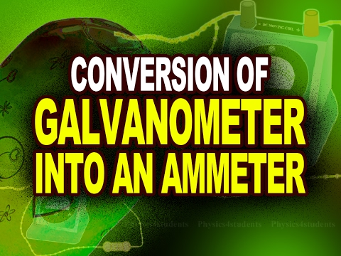 Conversion of Galvanometer into an Ammeter | Plus Two Physics Tutorials