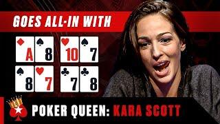 NEVER go all-in against Kara Scott ♠️ Poker Queens ♠️  PokerStars