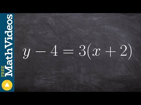 How To Rewrite An Equation Into Slope Intercept Form
