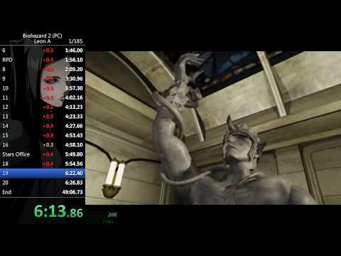 Resident Evil 2 (PC) - Leon A Speedrun 48:53 (WR)