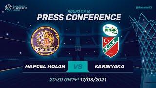Hapoel Unet-Credit Holon V Pinar Karsiyaka - PC   Basketball Champions League 2020/21