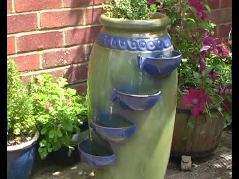 Dempsy Earthenware Three Tier Cascade Water Feature And Planter