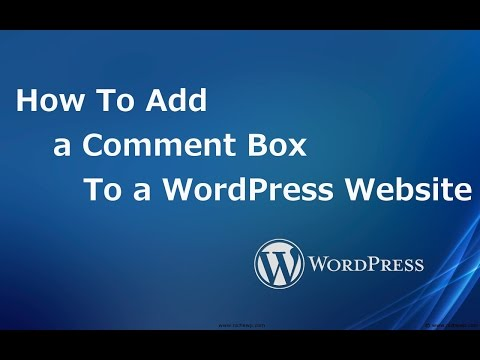 Add comment box to a website