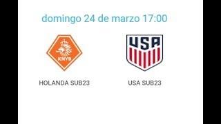24/03/2019 Pinatar Football SUB20: HOLLAND - USA
