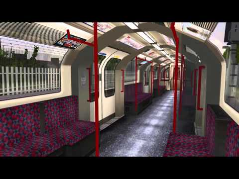 OpebBVE London Underground Central line journey Ealing Broadway to Liverpool Street