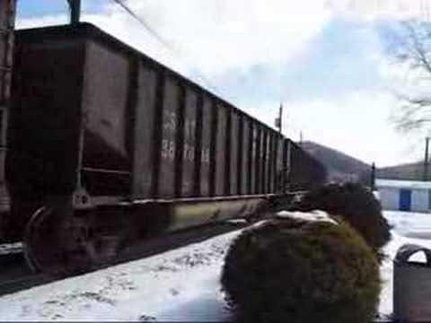 CSX Coal Train at Phillippi, WV 2/07