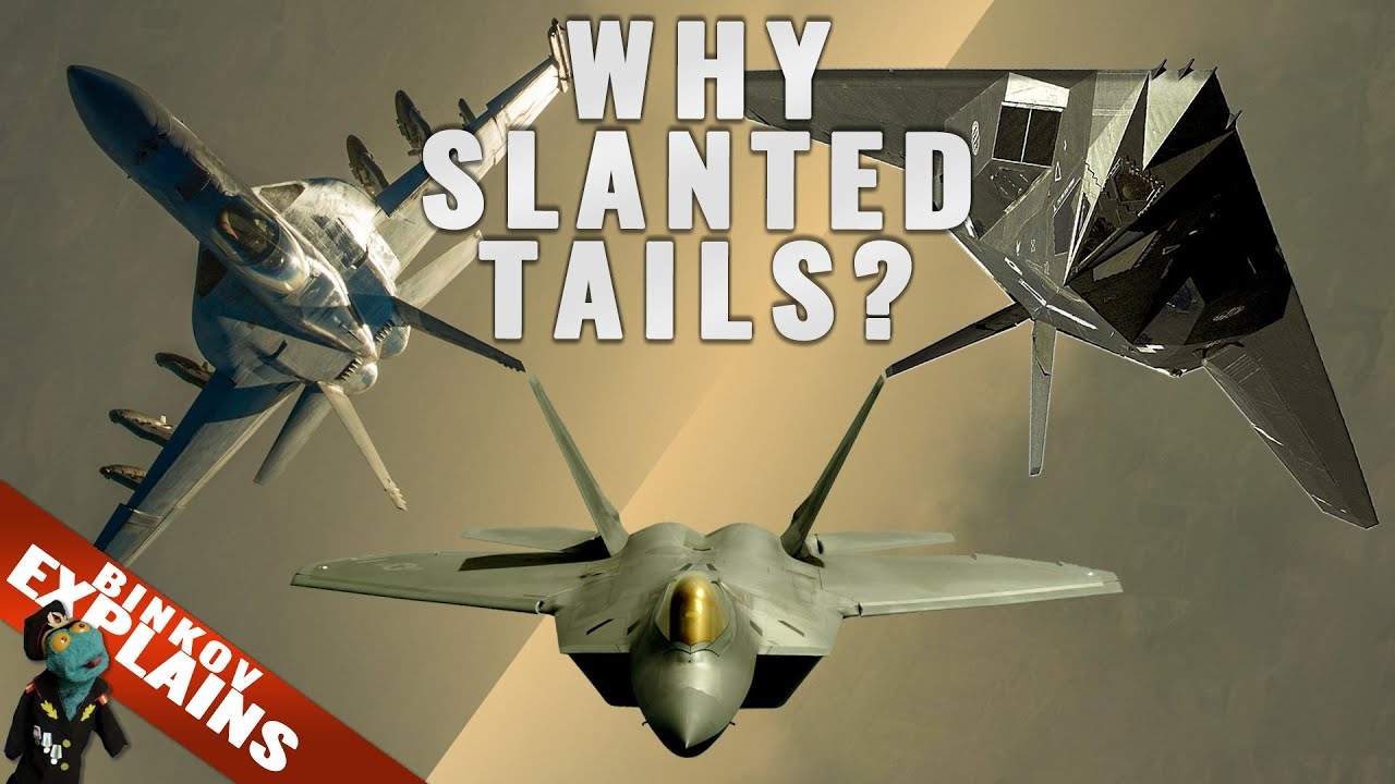 Why do fighter jets have slanted tails? (Explained!)