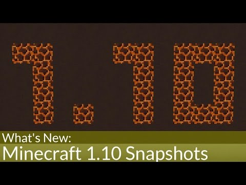What's New In Minecraft 1.10