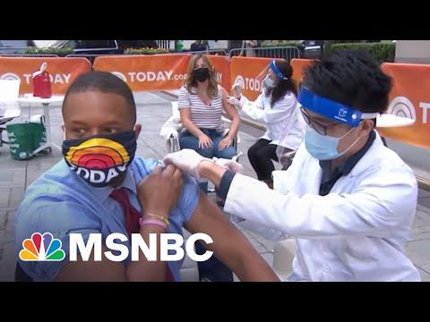 Craig Melvin Gets Vaccinated Live   Craig Melvin   MSNBC