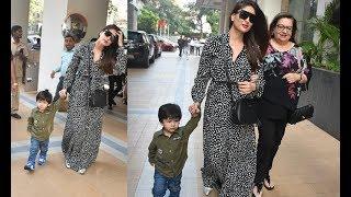 Taimur Ali Khan Cutely Walking With Mom Kareena Kapoor Khan For A Friends Birthday
