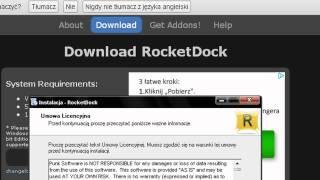 """Ciekawe Poradniki cz.1 - Dodatek """"Rocket Dock"""""""
