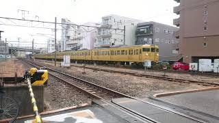JR西日本 115系8両編成(L-22編成+L-21編成)西広島にて