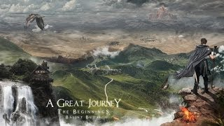 A Great Journey: The Beginnings - 4K Image ( #Photoshop CS6 Time lapse)