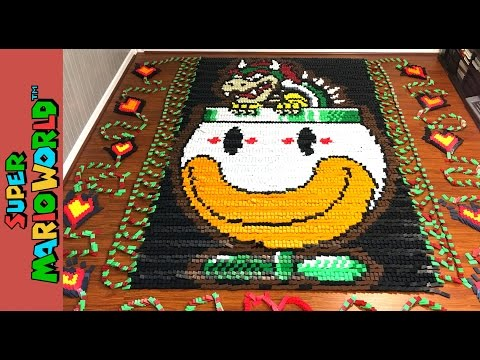 Super Mario World (In 81,032 Dominoes!)