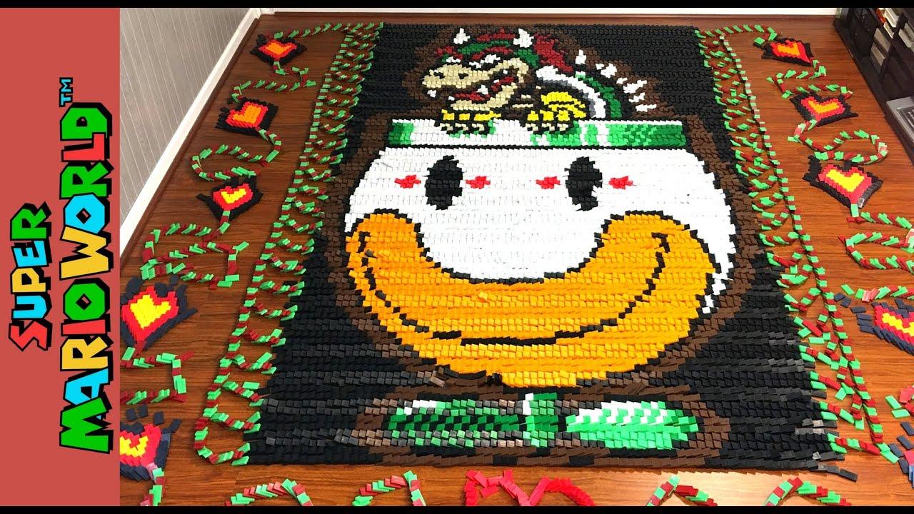Super Mario World In 81 032 Dominoes Youtube